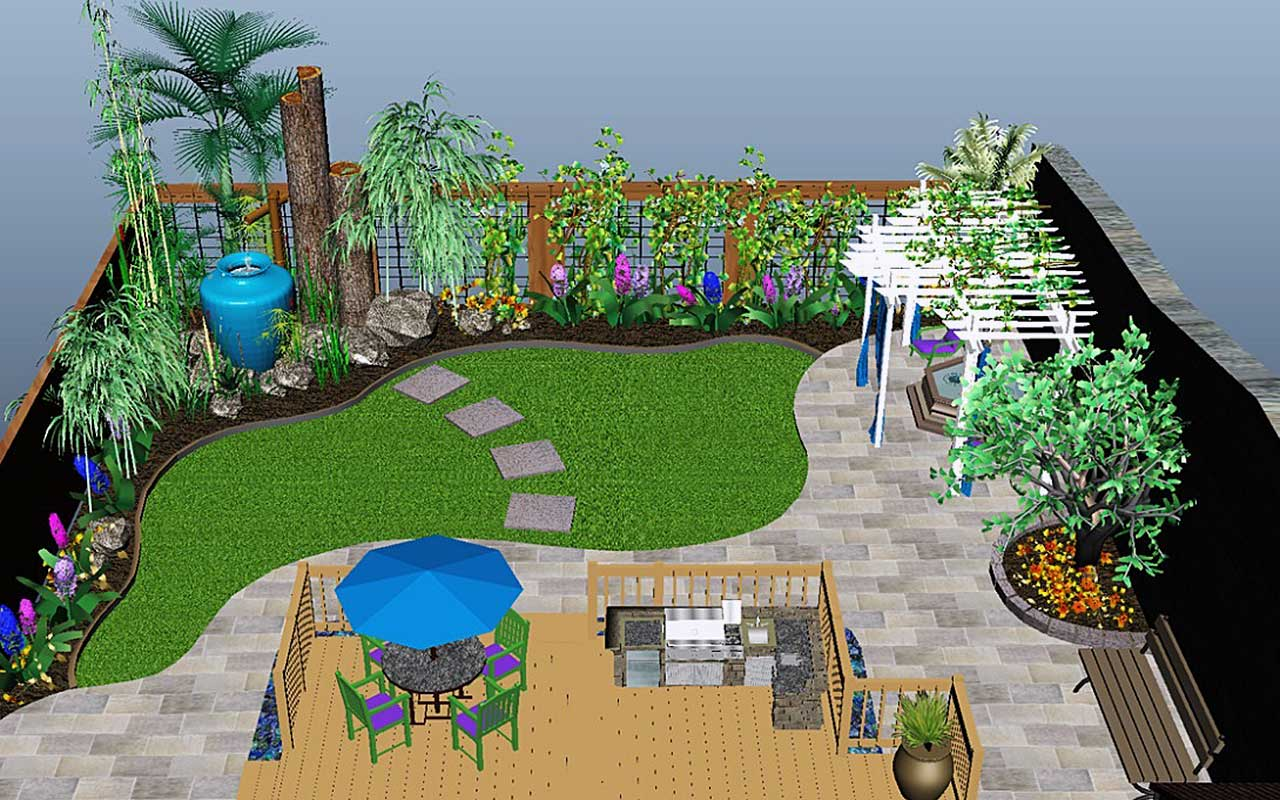3d landscaping design for 3d garden designs